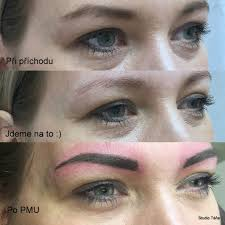 Permanentní Make Up Foto Pudrové Obočí Studio Táňastudio Táňa Brno