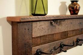 Reclaimed Wood Coat Rack Shelf Magnificent Coat Shelf Reclaimed Wood 32 Hanger Coat Rack With Shelf Was By Where