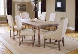 nailhead dining chairs dining room. Hartland 7 Piece Wood Dining Set In Ivory Plus Nailhead Trim For Room Furniture Ideas Chairs