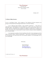 Gallery Of Cover Letter Sample For Food Service Manager Sample