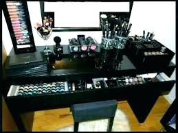 black makeup vanity black vanity set