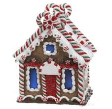 Candy Cane House Decorations 100 Gingerbread Kisses LED Lighted Candy Cane House Christmas 12