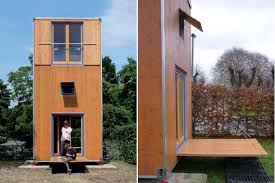 3 story tiny house. Movable 3-Story Vertical Home. Architecture 3 Story Tiny House