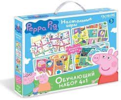 <b>Обучающий набор</b> PEPPA PIG <b>4в1</b> Азбука Считалочка Времена ...
