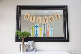 burlap name bunting for baby oliver s nursery make it and love awesome ideas name wall art brilliant design personalized last