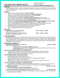 Awesome Successful Objectives In Chemical Engineering Resume And