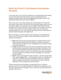 Press Release Templet Inbound Press Release Templates