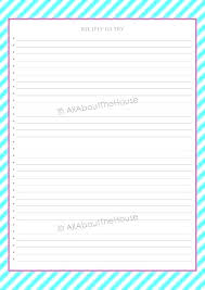 Full Page Recipe Templates Full Page Recipe Card Template