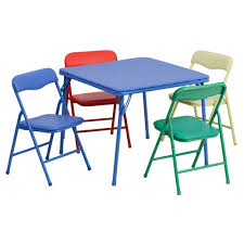 kids colorful 3 piece folding table and chair set view larger