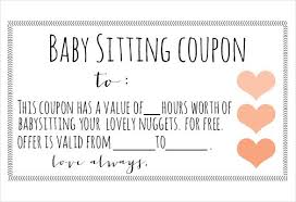 11 Baby Sitting Coupon Templates Psd Ai Indesign Word Free