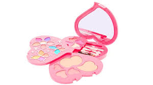 rainbow glitter heart shaped makeup set claires