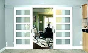 barn doors th glass inserts pocket interior door kit exterior insert with