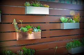 hanging planter boxes fence planters
