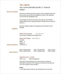 English Cv Template Download Ataumberglauf Verbandcom
