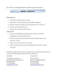 Restaurant Resume Template Alluring Restaurant Head Waiter Resume Sample For Cv Job 21