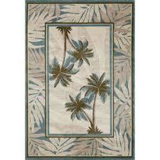 palm coast frond blue 8 ft x 11 ft area rug