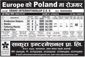 Welder Helper Job Description Poland Job Demand Production Helper Welder And Other Jobs