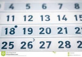 Business Calendar Page Stock Image Image Of Agenda 102326169