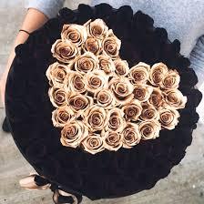 Gorgeous Themillionroses Black Gold Roses White