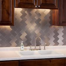 Stick On Backsplash For Kitchen 32 Piece Peel And Stick Backsplash Glass Tile For Kitchen Or