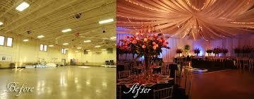 incredible before and after wedding d lighting and decorations