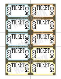 Perforated Raffle Ticket Sheets Perforated Ticket Printing Nano Designs