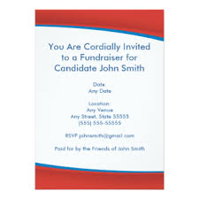 political fundraiser invite political invitations announcements zazzle
