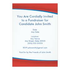 political fundraiser invite political invitations announcements zazzle