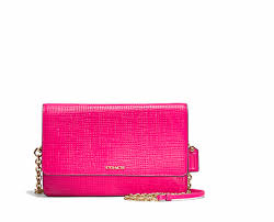 Coach 51556 Madison Embossed Leather Boxy Bag Pink Ruby