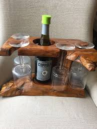wine glass holder wooden tree sculpture glasses rack tabletop rustic raw decor 1 of 11 see more