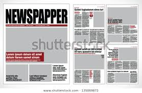 Creating A Newspaper Template Graphical Design Newspaper Template Miscellaneous