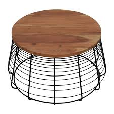cb2 round wire coffee table cb2 coffee tables