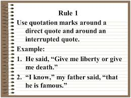 Direct Quote New Quotation Marks Ppt Video Online Download Direct Quote Com
