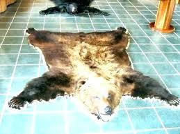 faux bear skin rug with head rugs black brown fur ski fake wolf tip arctic