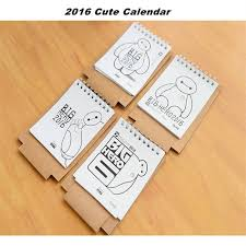 cartoon calendar 2016 mini table calendario cute cat baymax standing desk calendars planner diy desktop diary kawaii calendrier in calendar from office