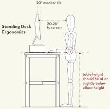optimal desk height standing desk ergonomics image optimal desk height ergonomics