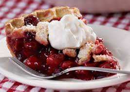 cherry pie slice with ice cream.  Pie In Cherry Pie Slice With Ice Cream