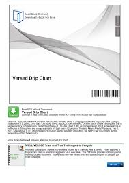Nitroglycerin Infusion Rate Chart Versed Drip Chart The Ultimate Pdf Search Engine And
