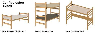 furniture configuration. graphic a basic single bed bunked and lofted furniture configuration