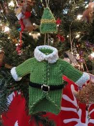 knitting Christmas baubles. Making this one IMMEDIATELY!!! Ravelry: Buddy  the Elf Sweater & Hat pattern