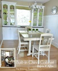 built in china cabinet before and after
