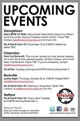 Upcoming Events Flyer Upcoming Events Flyer Design Revolution Cycles Flickr