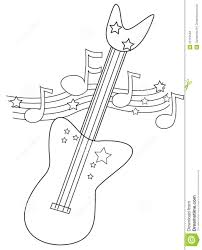 Small Picture Electric Guitar Coloring Page Stock Illustration Image 52718548