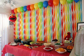 Design Party Decorations Extraordinary Get Your Craft On Elmo's World Birthday Streamer Wall Seasame