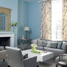 light blue living room furniture. rio posted blue and gray living room with tall floral drapes to their baby time postboard via the juxtapost bookmarklet light furniture