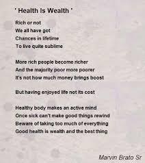 health is wealth poem by marvin brato sr poem hunter health is wealth poem by marvin brato sr poem hunter