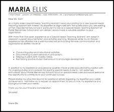 Special Education Assistant Cover Letter Sarahepps Com