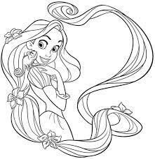 Tranh tô màu công chúa tóc mây xinh đẹp, đáng yêu nhất