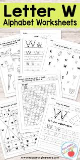 Phonics is essential for early learning. Letter W Worksheets Alphabet Series Easy Peasy Learners