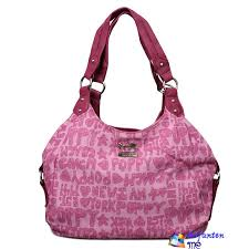 Fashion Pink Coach Poppy Signature Medium Shoulder Bags